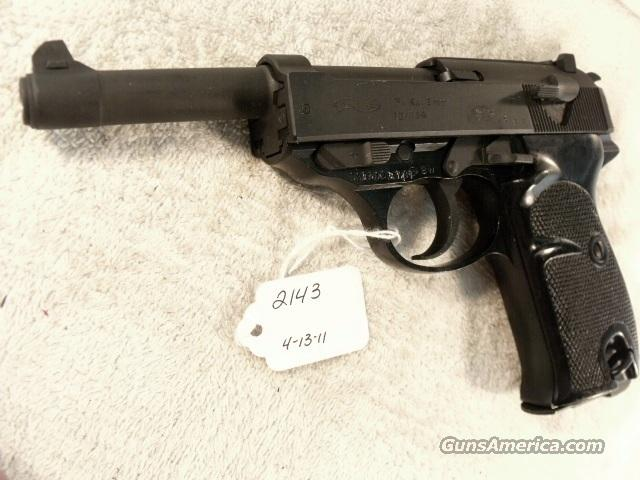 Walther 9mm P-38 variant P1 Lightweight Parkerized VG 1975 P38 P-1 Federal German Police Bundespolizei CA OK  Guns > Pistols > Walther Pistols > Post WWII > P38