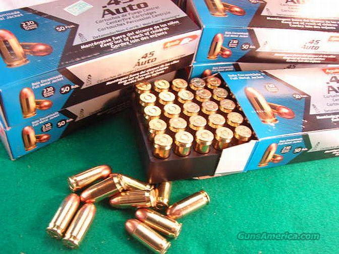 Ammo: .45 ACP FMC 230 gr 50/Box Aguila 300 round 6 box Lot  Non-Guns > Ammunition