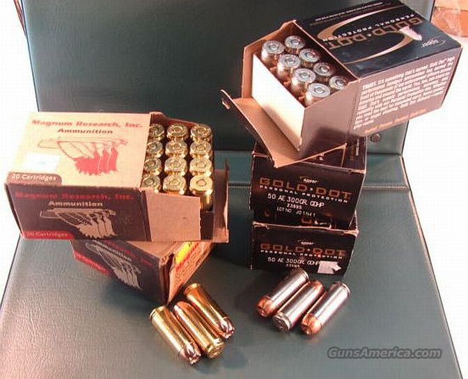 Ammo: .50 AE 2 Boxes Hornady 300 XTP & 2.5 Boxes Speer Gold Dot 91 Rounds  Non-Guns > Ammunition