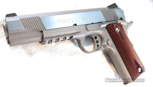 Colt .45 ACP Rail Gun Government Stainless 2 Mags Mint in Box  Guns > Pistols > Colt Automatic Pistols (1911 & Var)