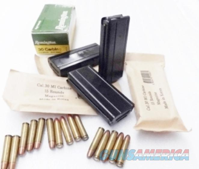Lots of 3 or more M1 Carbine Magazine 30 caliber 15 Shot KCI Blue Steel South Korean Military New and Unissued M-1 .30 Cal $13 per on 3 or more	  Non-Guns > Magazines & Clips > Rifle Magazines > M-14/M1A