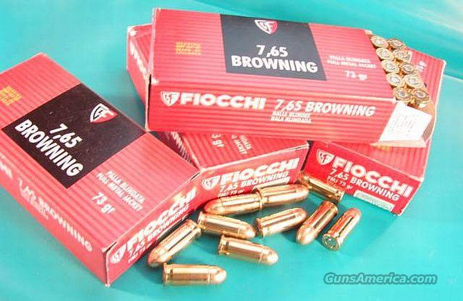 Ammo: .32 ACP 250 Round Lot of 5 Boxes Fiocchi 73 grain FMC 32 Automatic 1000 fps Full Metal Case Jacket Ammunition Cartridges Hornady Affiliate  Non-Guns > Ammunition
