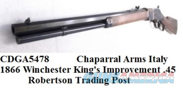 1866 Winchester King's Improvement close Copy Chaparral Arms .45 Colt Black Powder Cartridge 1866 Color Casehardened Walnut Transitional Style close to 1873 Octagonal 20 inch CDGA5478  Guns > Rifles > Winchester Replica Rifle Misc.