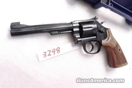 Smith & Wesson .22 Magnum model 48-7 Blue 6 inch Adjustable Target Stocks Target Hammer White Outline High Partridge Combat Trigger Near Mint   Guns > Pistols > Smith & Wesson Revolvers > Full Frame Revolver