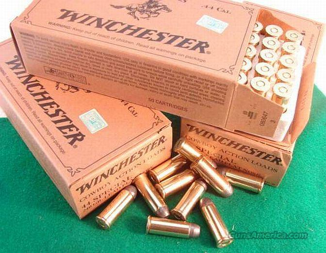 Ammo: .44 Special Winchester 50 Round Boxes 240 grain Lead Cowboy load  44 Smith & Wesson Special Caliber Ammunition Cartridges  Non-Guns > Ammunition