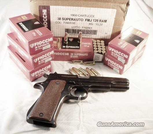 Ammo: .38 Super 129 grain 500 Round 1/2 Case Lot of 10 Boxes Fiocchi Full Metal Case Jacket 38 Super ACP   Non-Guns > Ammunition