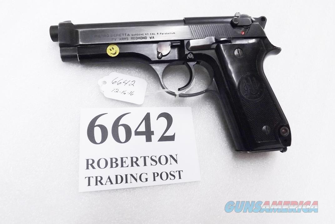 Beretta 9mm model 92S Italy Military Police Italian Carabinieri VG JS92F300M type / ancestor c1978, Capitano Lorenzo Pecorella's Service Pistol  Guns > Pistols > Beretta Pistols > Model 92 Series