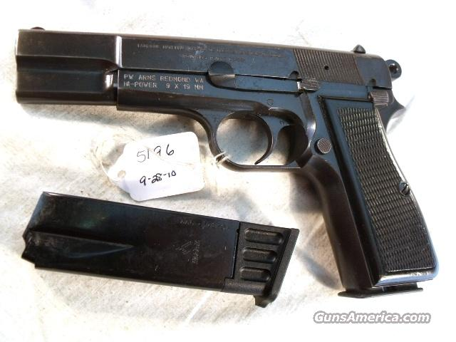 FN Browning 9mm Hi-Power Israeli G-VG 1968 w/2 Magazines  Guns > Pistols > FNH - Fabrique Nationale (FN) Pistols > High Power Type