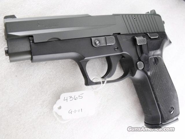 Sig 9mm P-226 Swiss Police Black Ice OD Green Teflon Slide P226 Sig Sauer all German with two new 18 shot Mec-Gar Magazines CA MA OK 1988 		  Guns > Pistols > Sig - Sauer/Sigarms Pistols > P228