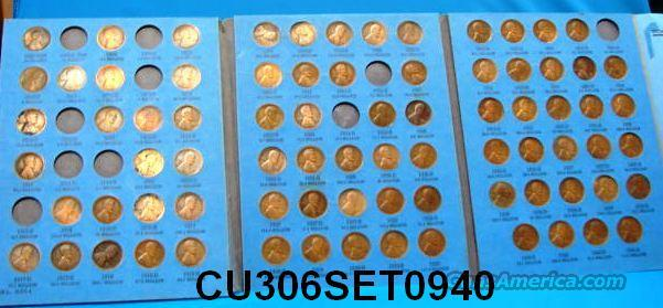 Coins US Lincoln Set 1909-40 Less 10 Coins   Non-Guns > Coins