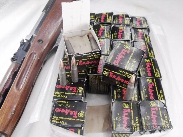 Ammo: 7.62 x 39 FMJ 1000 Round Lot of 50 Boxes Tula Russian 762x39 AK SKS Ammunition Cartridges 122 grain Full Metal Jacket Steel Case  Non-Guns > Ammunition