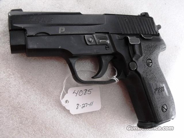 Sig 9mm P228 Swiss Police 16 Shot 2005 VG  2 Magazines Night Sights K Kote All German Sig Sauer P-228 CA OK  Guns > Pistols > Sig - Sauer/Sigarms Pistols > P228