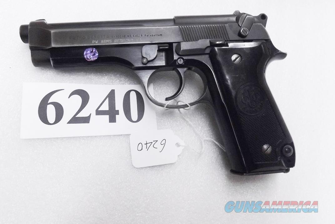Beretta 9mm model 92S Italy Military Police Italian Carabinieri VG 1977 First Year w1 15 round Magazine Factory Gloss Anodized Frame, Oxide Finish Slide & Barrel VGM  Guns > Pistols > Beretta Pistols > Model 92 Series