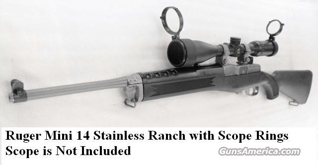 Ruger .223 Mini-14 Stainless Synthetic Ranch NIB K Mini 14/5R Ruger Steel Scope Ring Mounts 223 Remington Caliber  Guns > Rifles > Ruger Rifles > Mini-14 Type