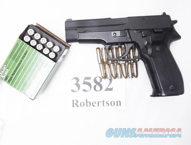 Sig 9mm P-226 All German 16 Shot 1988 Production US DOE Refinish VG-Exc Bar Dot Sight Zipper Back Dovetail PreBan Magazine E26R9BU  	  Guns > Pistols > Sig - Sauer/Sigarms Pistols > P226