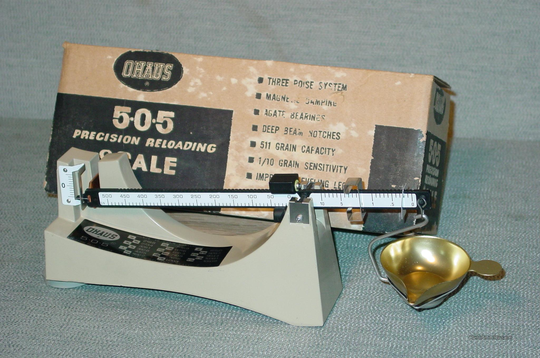 Ohaus 505 Precision Reloading Scale For Sale