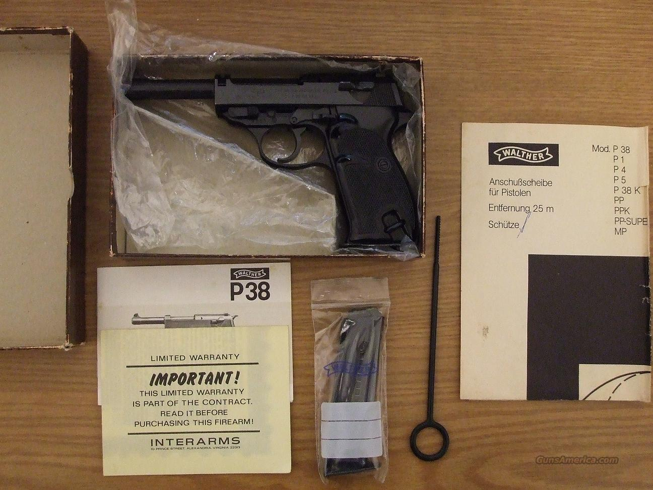 Walther P38   22 l.r.  Guns > Pistols > Walther Pistols > Post WWII > Large Frame Autos