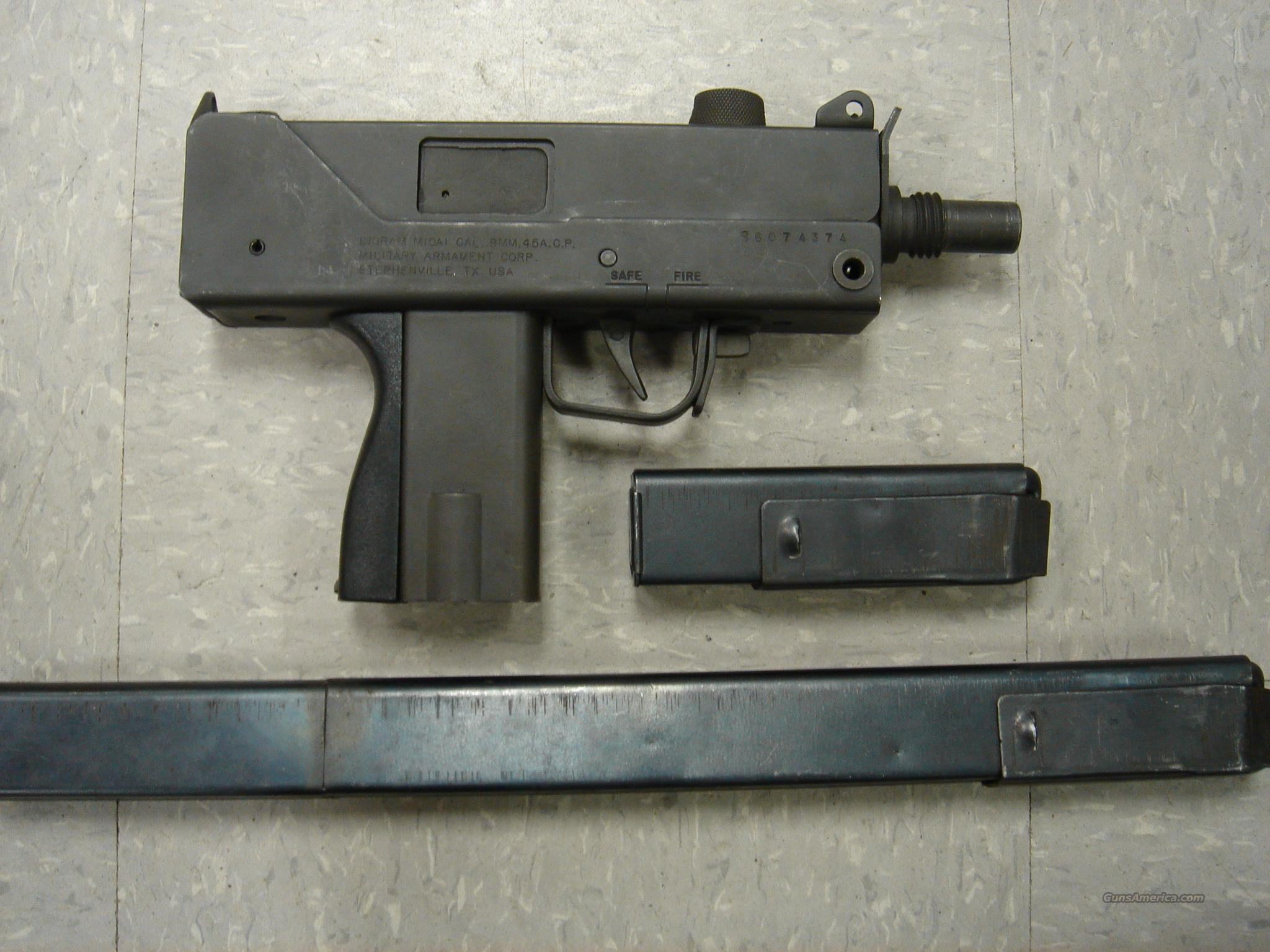 INGRAM, MAC10 , MILITARY ARMAMENT M10A1 9MM PISTOL, SEMI AUTO  Guns > Pistols > Military Misc. Pistols US > Other