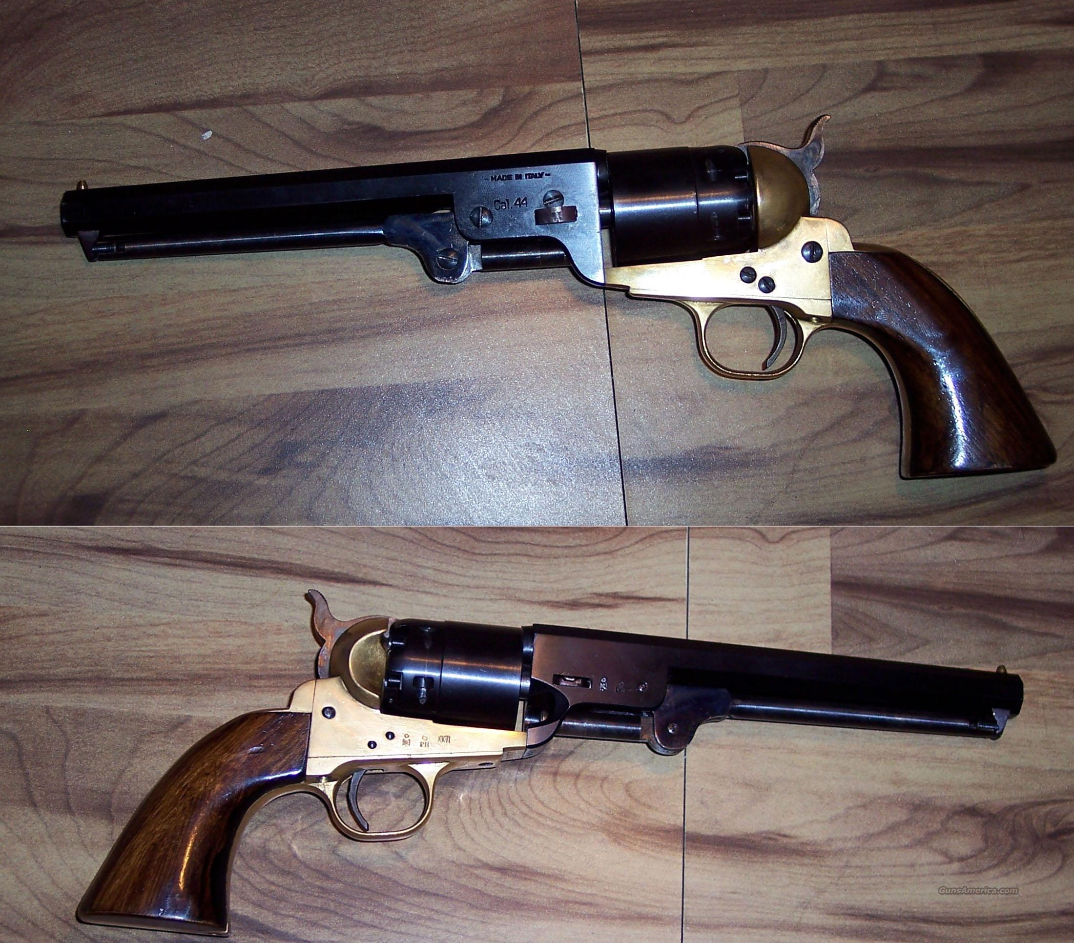 Italian Made 44 Cal Black Powder Pistol For Sale