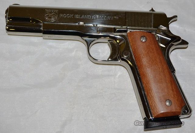 ROCK ISLAND ARMORY M 1911 A1FS POLISHED NICKEL  Guns > Pistols > 1911 Pistol Copies (non-Colt)