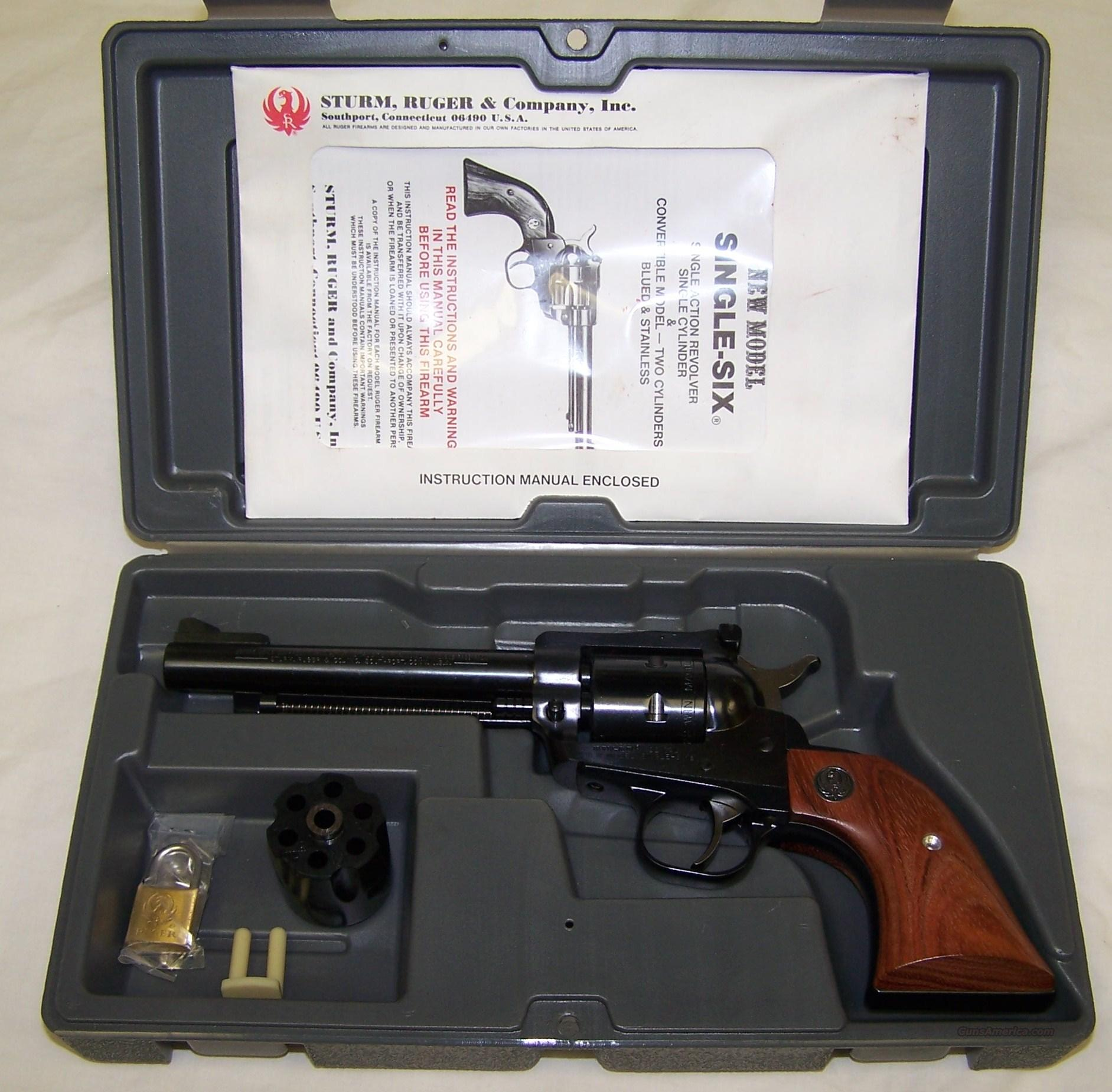 NEW MODEL SINGLE SIX CONVERTIBBLE  Guns > Pistols > Ruger Single Action Revolvers > Single Six Type