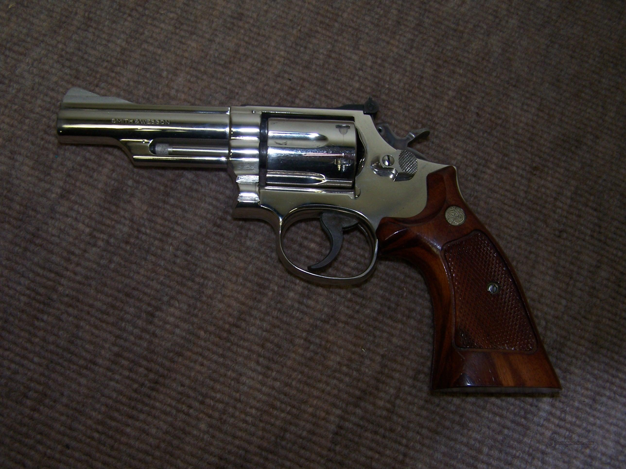 smith &wesson 19-4 nickel  Guns > Pistols > Smith & Wesson Revolvers > Full Frame Revolver