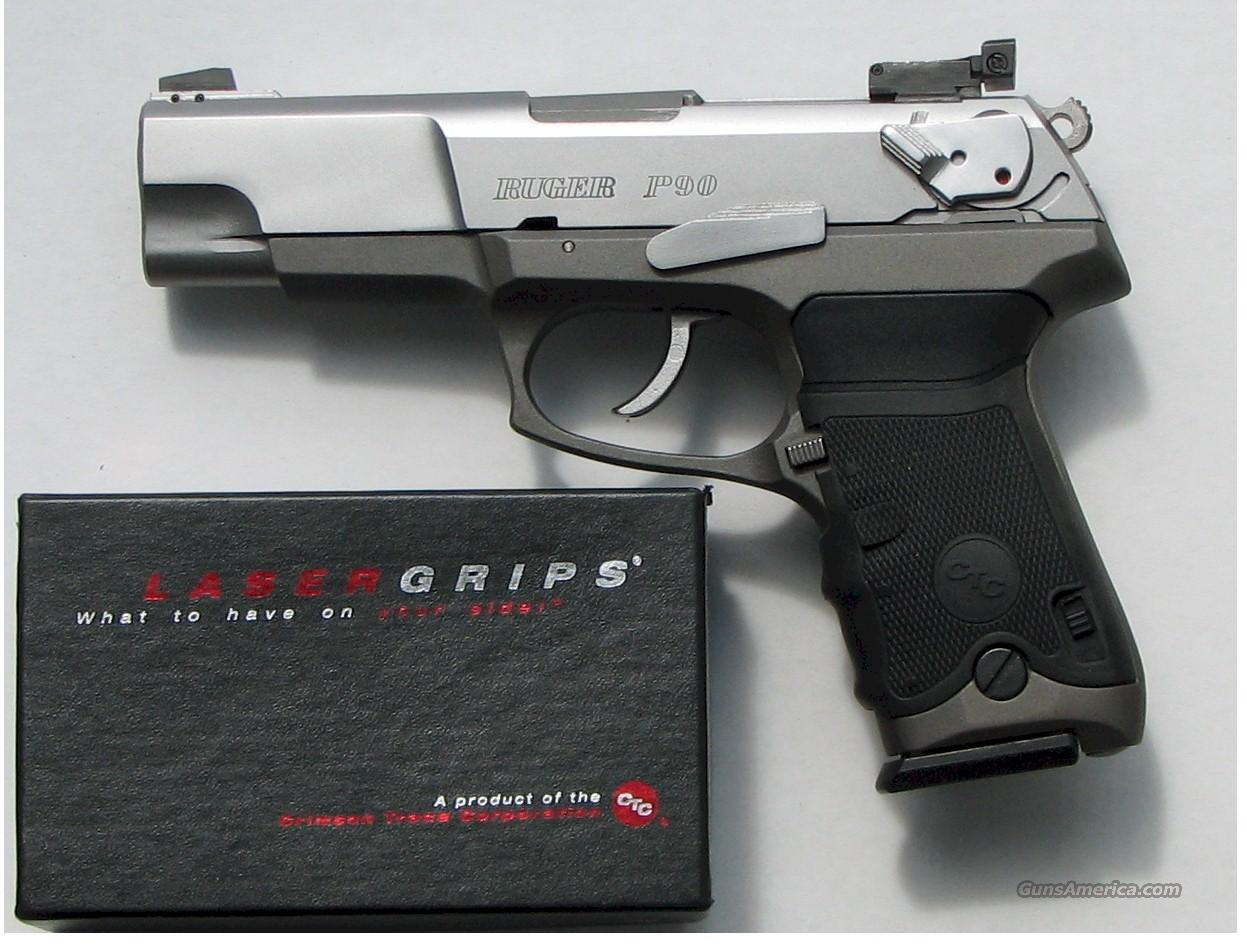 RUGER P-90 S/S 45ACP,Adj Sights and Crimson Laser Grips   Guns > Pistols > Ruger Semi-Auto Pistols > Full Frame Autos