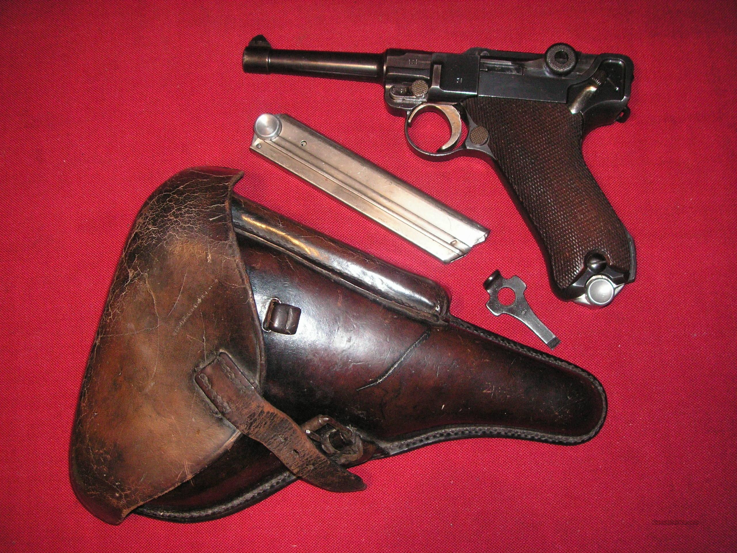 LUGER K-DATE WITH 2 MATCHIND MAGS & HOLSTER  Guns > Pistols > Luger Pistols
