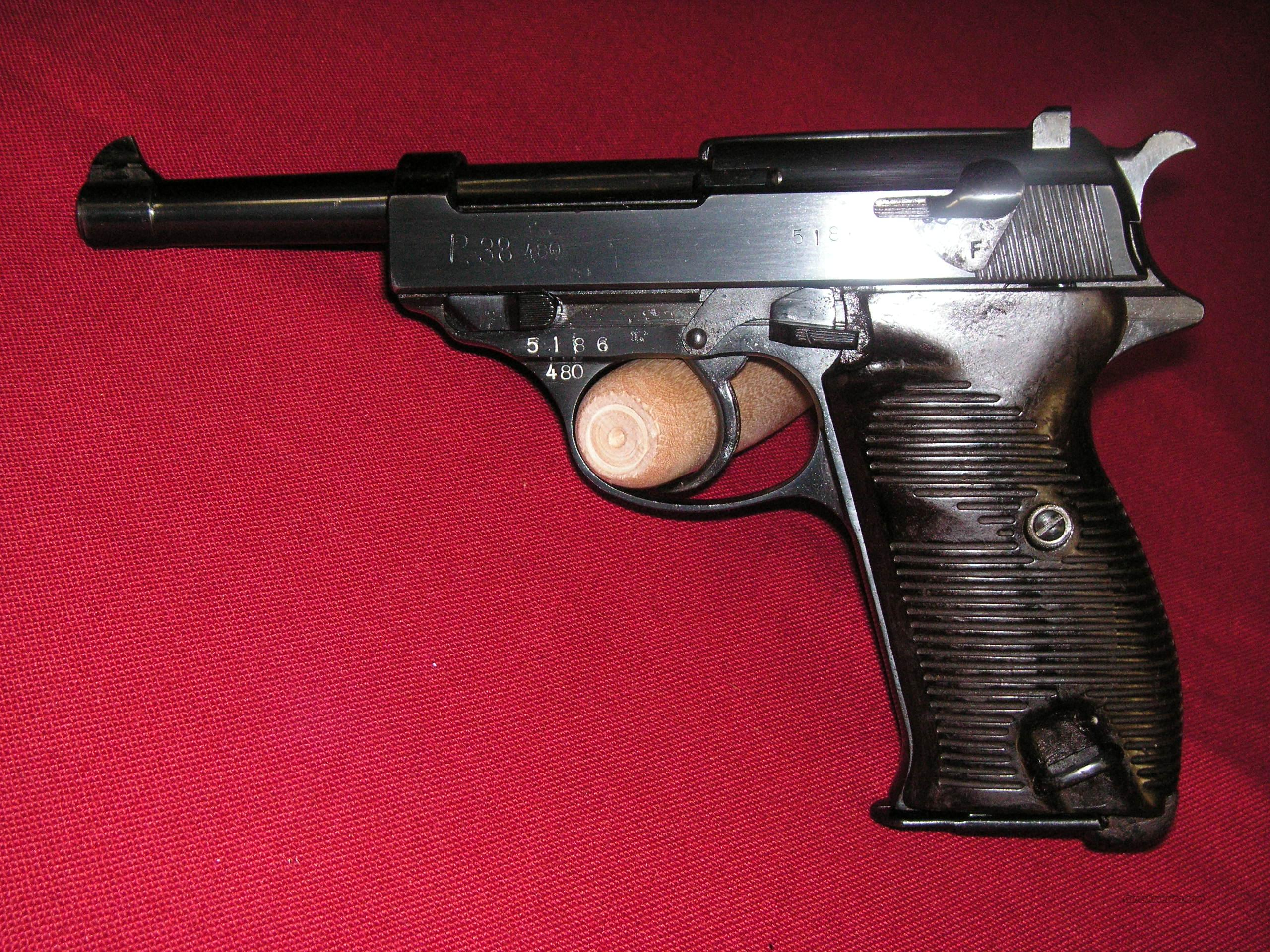 Walther WW2 P38 Code 480 in excelent cond.  Guns > Pistols > Walther Pistols > Pre-1945 > P-38