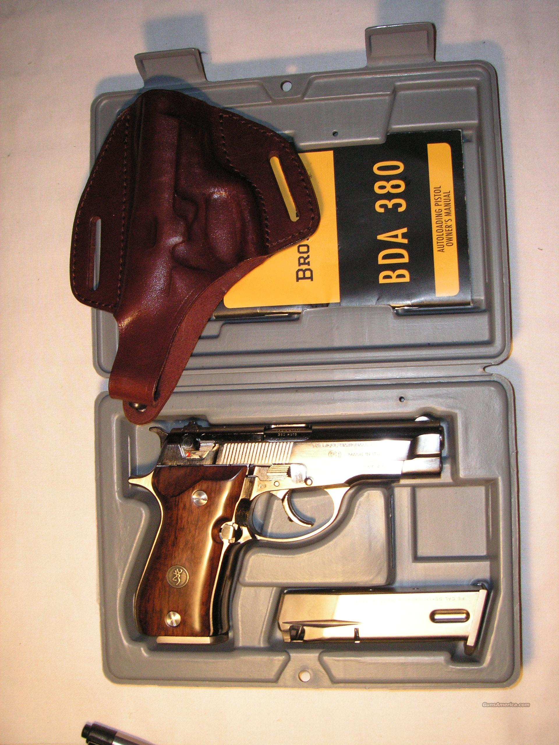 Browning BDA Nickel Plated cal.380 ACP  Guns > Pistols > Browning Pistols > Other Autos