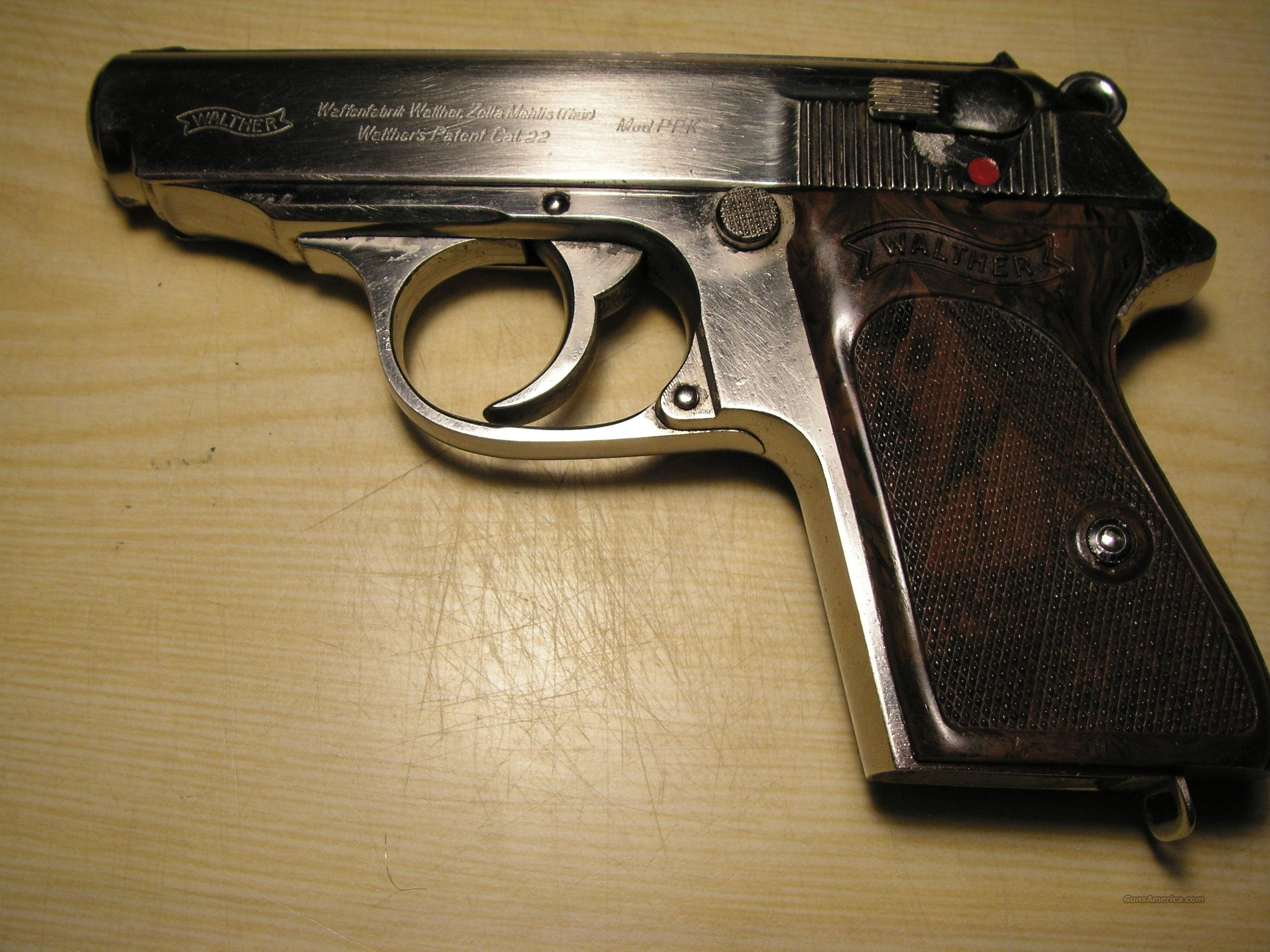 Pre War Walther PPK nickel  cal.22LR   Guns > Pistols > Walther Pistols > Pre-1945 > PPK