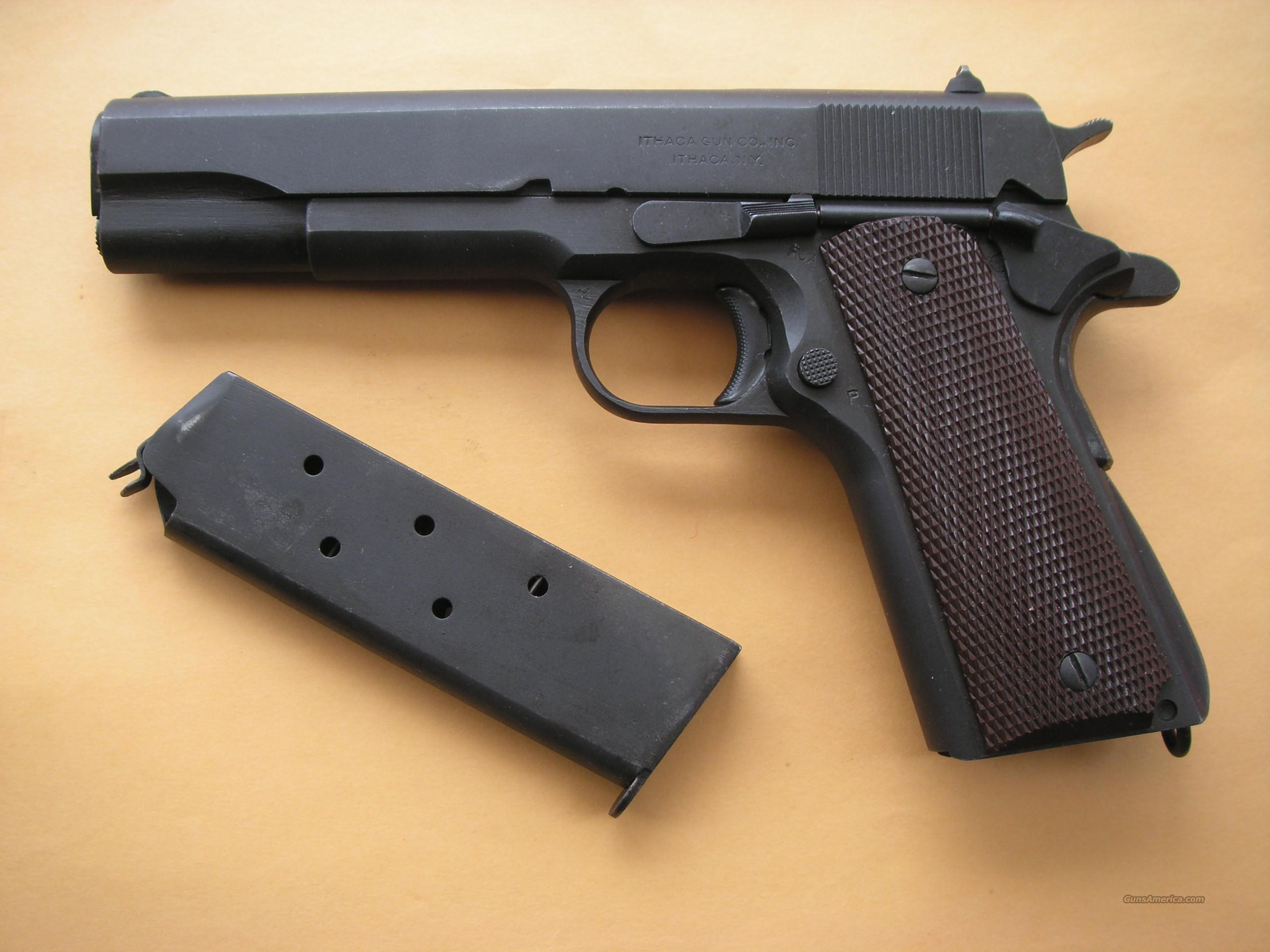 ITHACA 1911A1 1944 WW2 PRODUCTION IN MINT CONDITION  Guns > Pistols > Ithaca Pistols