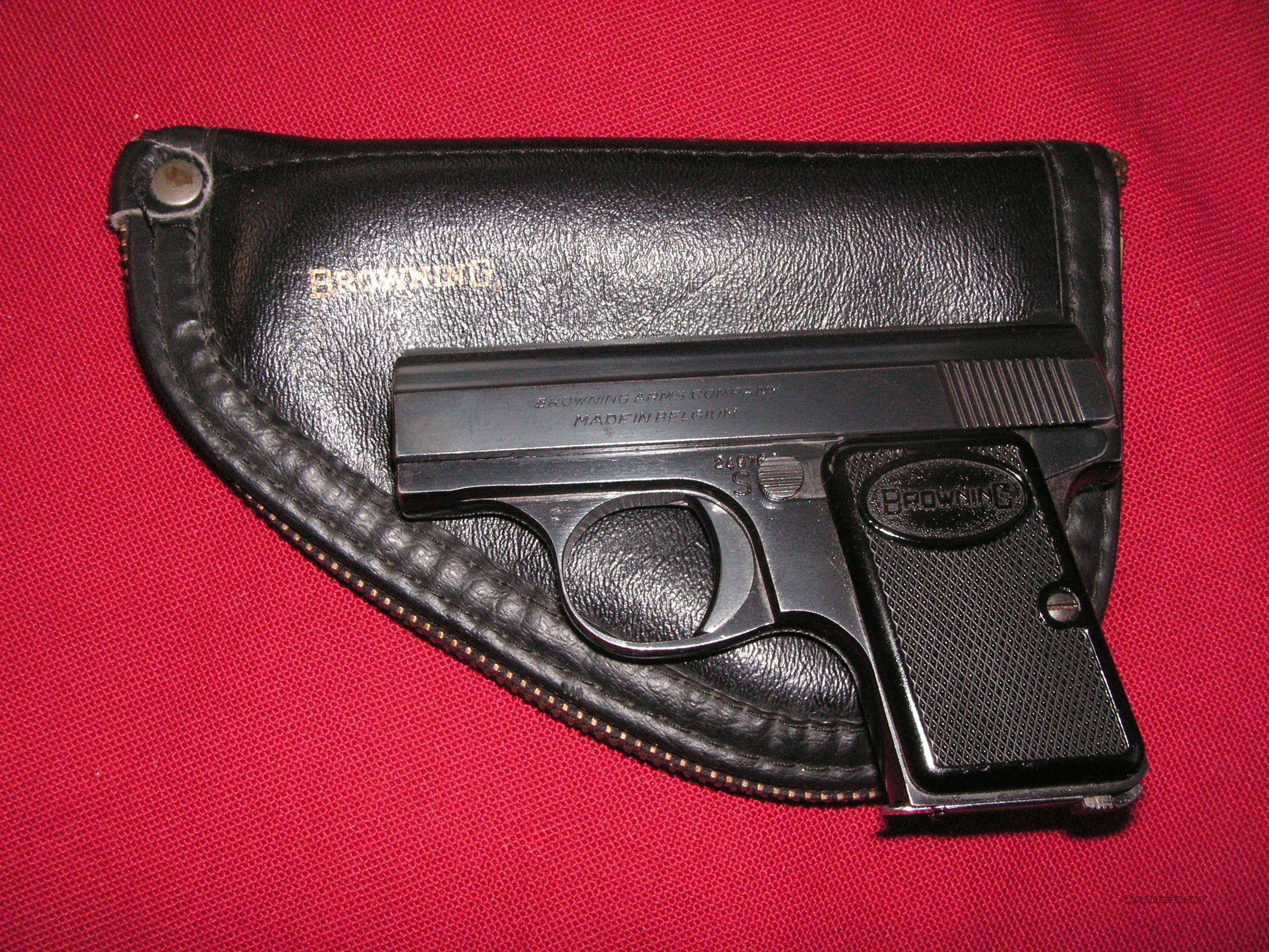 """BABY"" BROWNING CA. 25ACP IN POUCH  Guns > Pistols > Browning Pistols > Baby Browning"