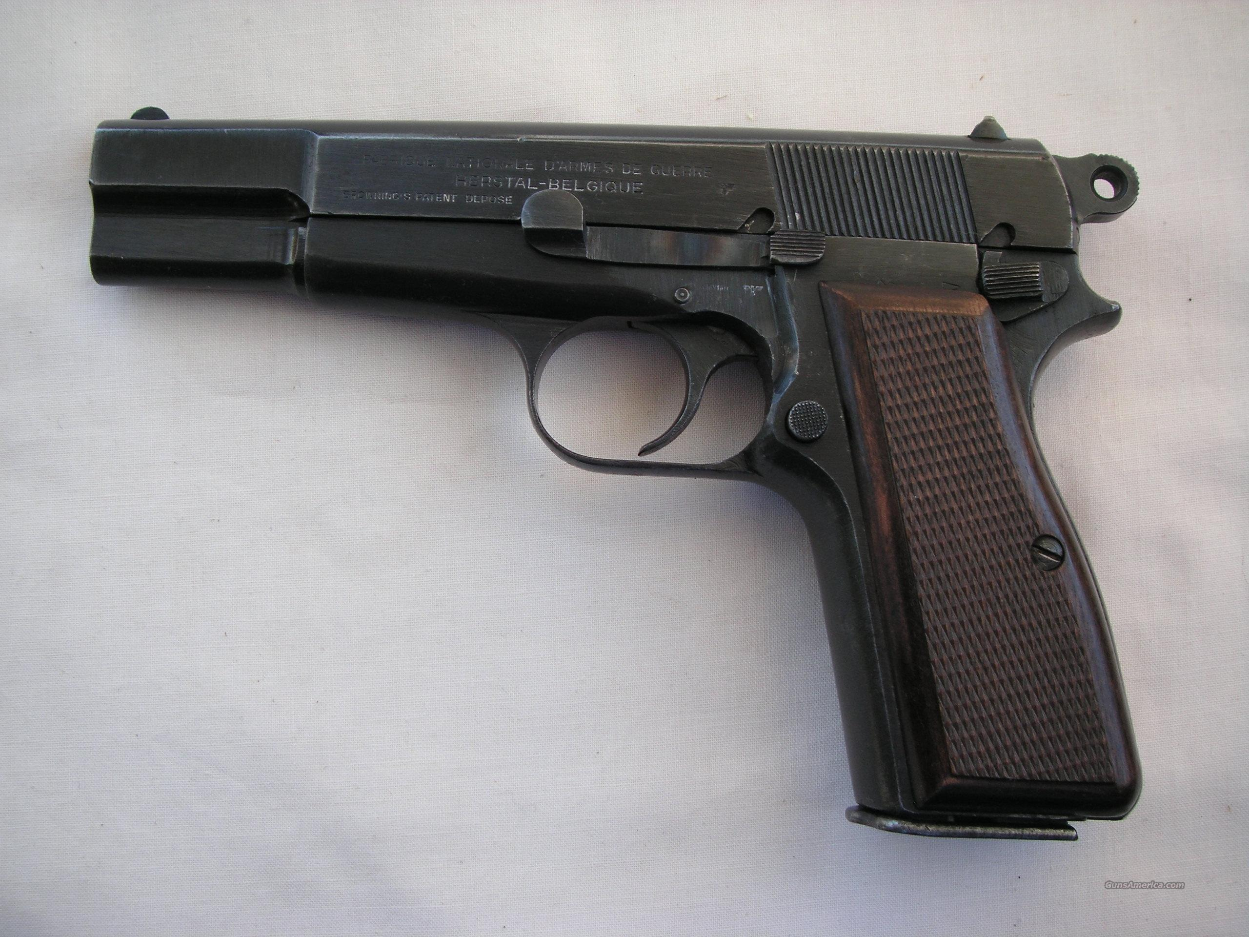 WW2 Nazi time HP Browning cal. 9mm  Guns > Pistols > Browning Pistols > Hi Power