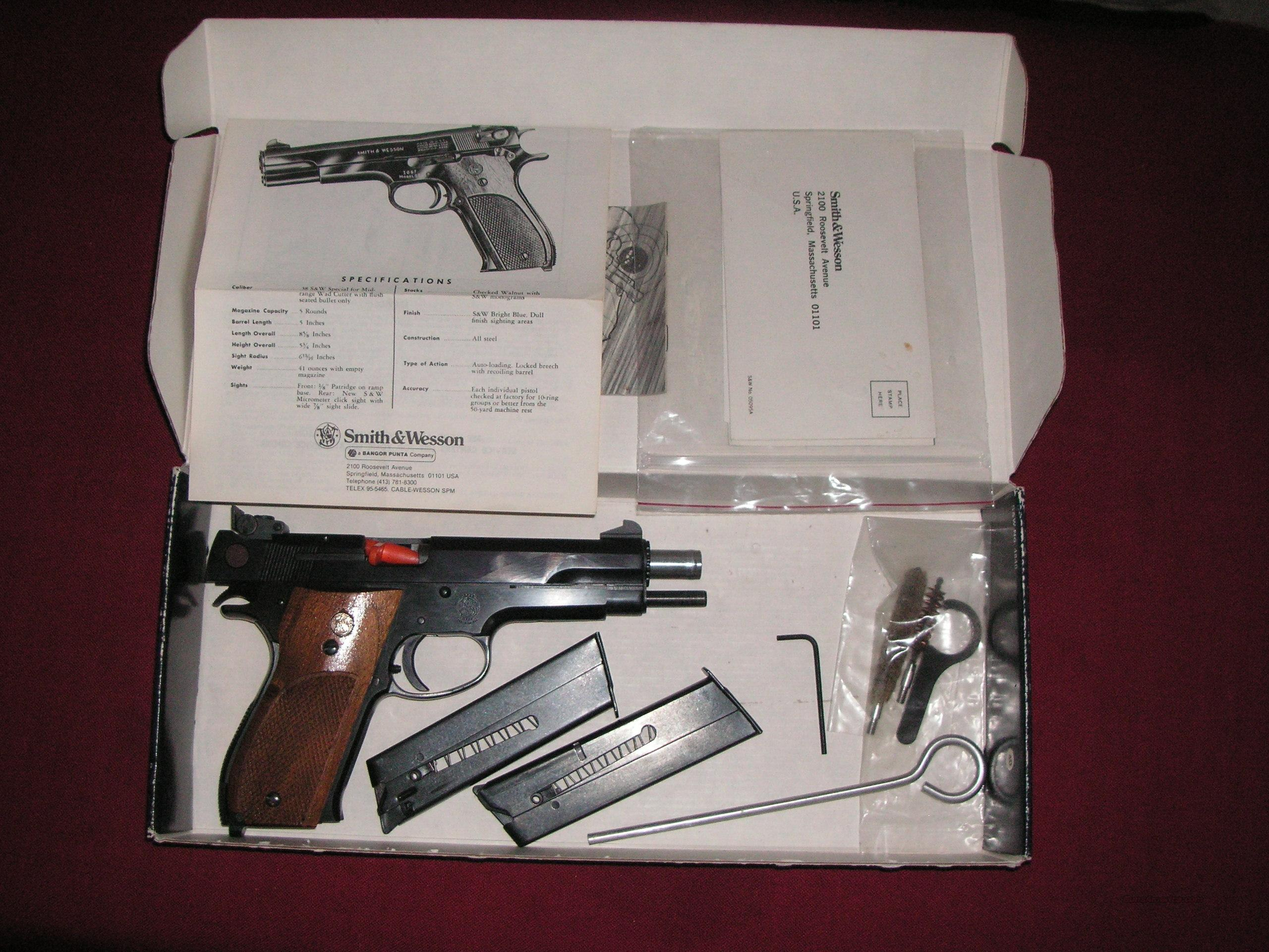 Smith $ Wesson model 52-2 38Spl.  Guns > Pistols > Smith & Wesson Pistols - Autos > Alloy Frame