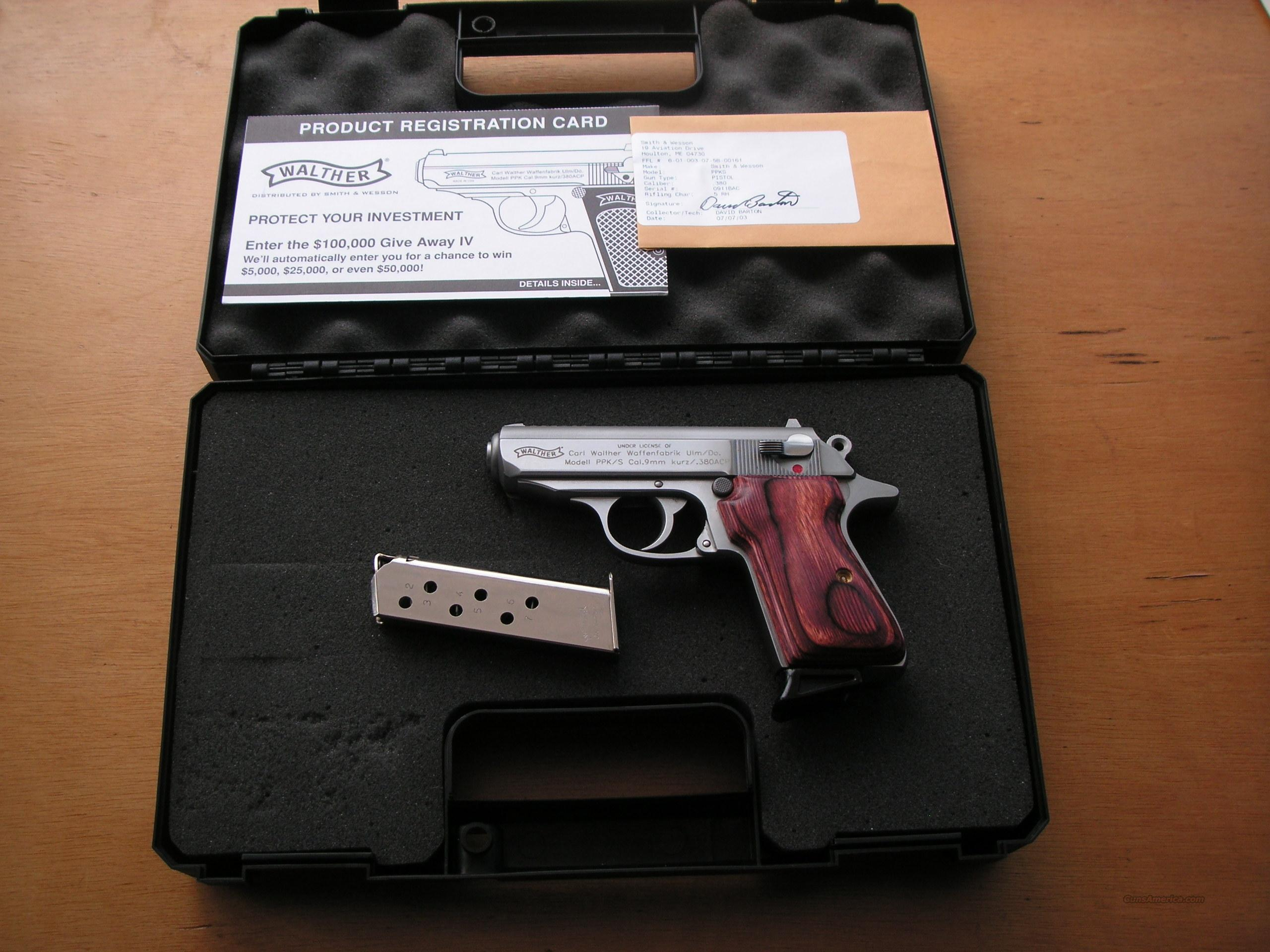 Walter PPKS cal.380ACP like new in case  Guns > Pistols > Walther Pistols > Post WWII > PPS