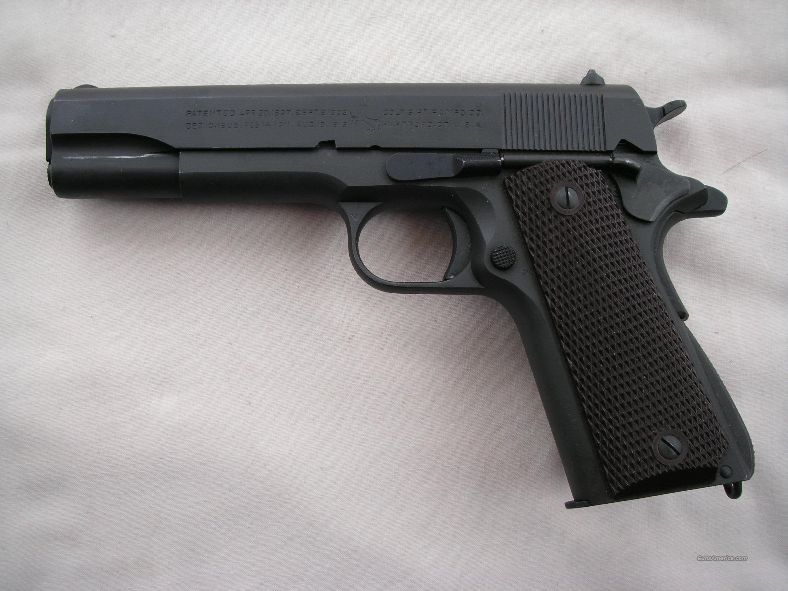 WW2 Colt 1911A1 in new original condition  Guns > Pistols > Colt Automatic Pistols (1911 & Var)