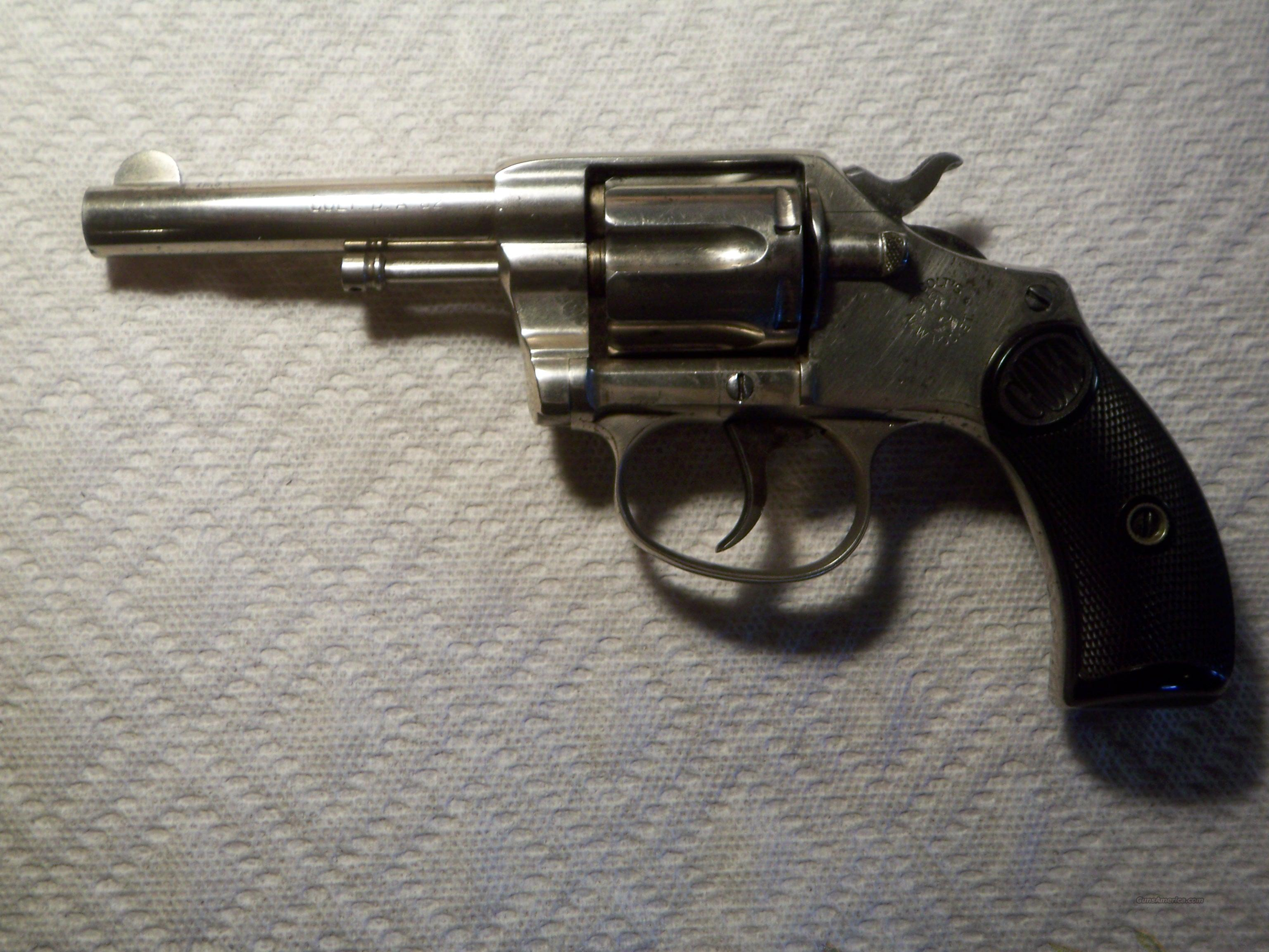 Colt New Pocket DA 32  Guns > Pistols > Colt Double Action Revolvers- Pre-1945