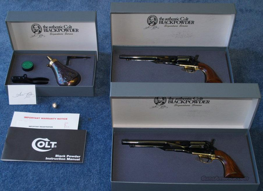 Colt Signature Series Consecutive Serial #   1860 Officer Army's  NIB  Guns > Pistols > Colt Percussion Revolver - Modern