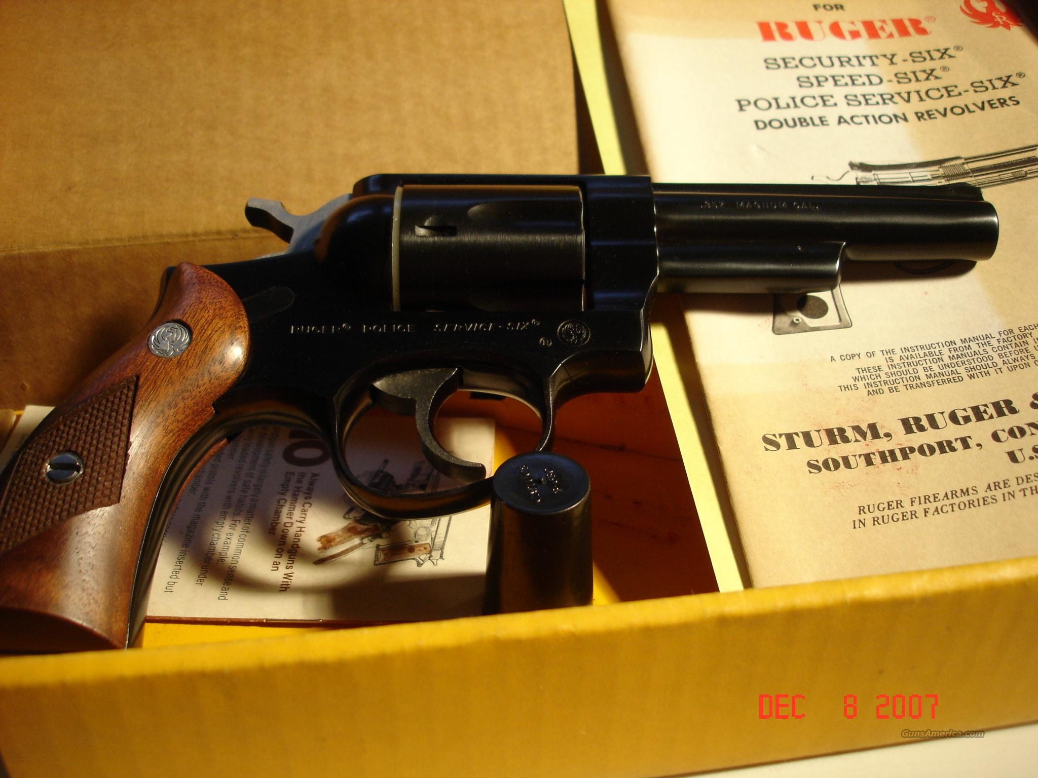 Ruger Police Service Six 357 Magnum  Guns > Pistols > Ruger Double Action Revolver > Security Six Type