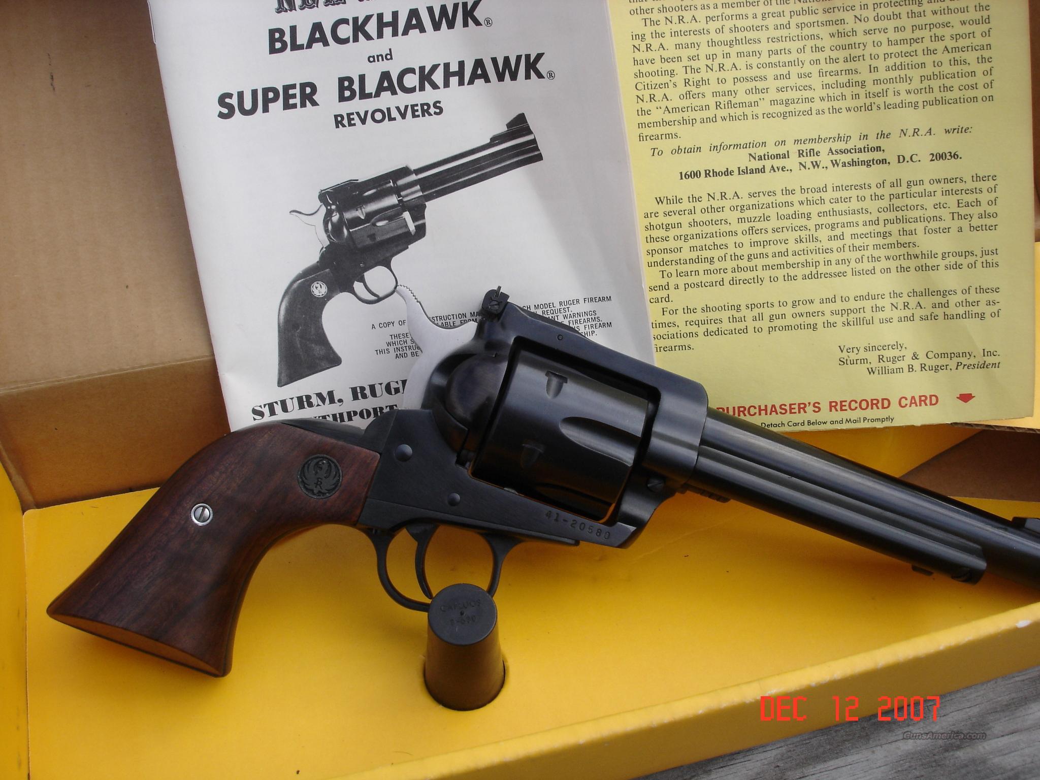 Ruger Blackhawk 41 Magnum  Guns > Pistols > Ruger Double Action Revolver > Redhawk Type