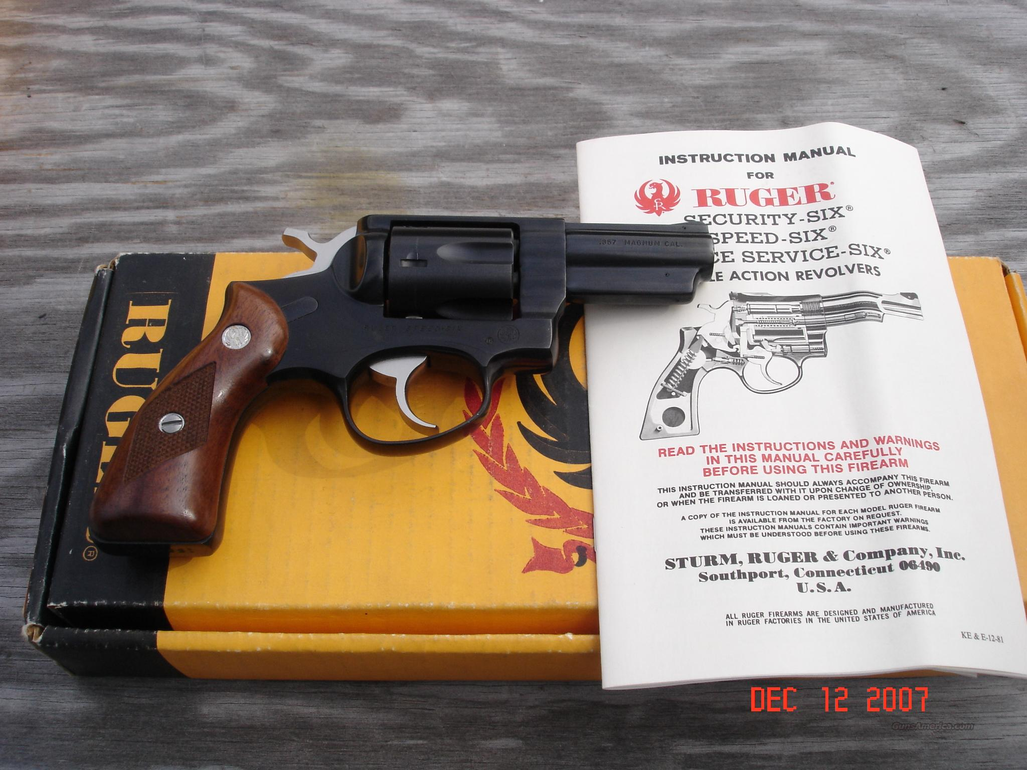 Ruger Speed Six 357 Magnum  Guns > Pistols > Ruger Double Action Revolver > Security Six Type