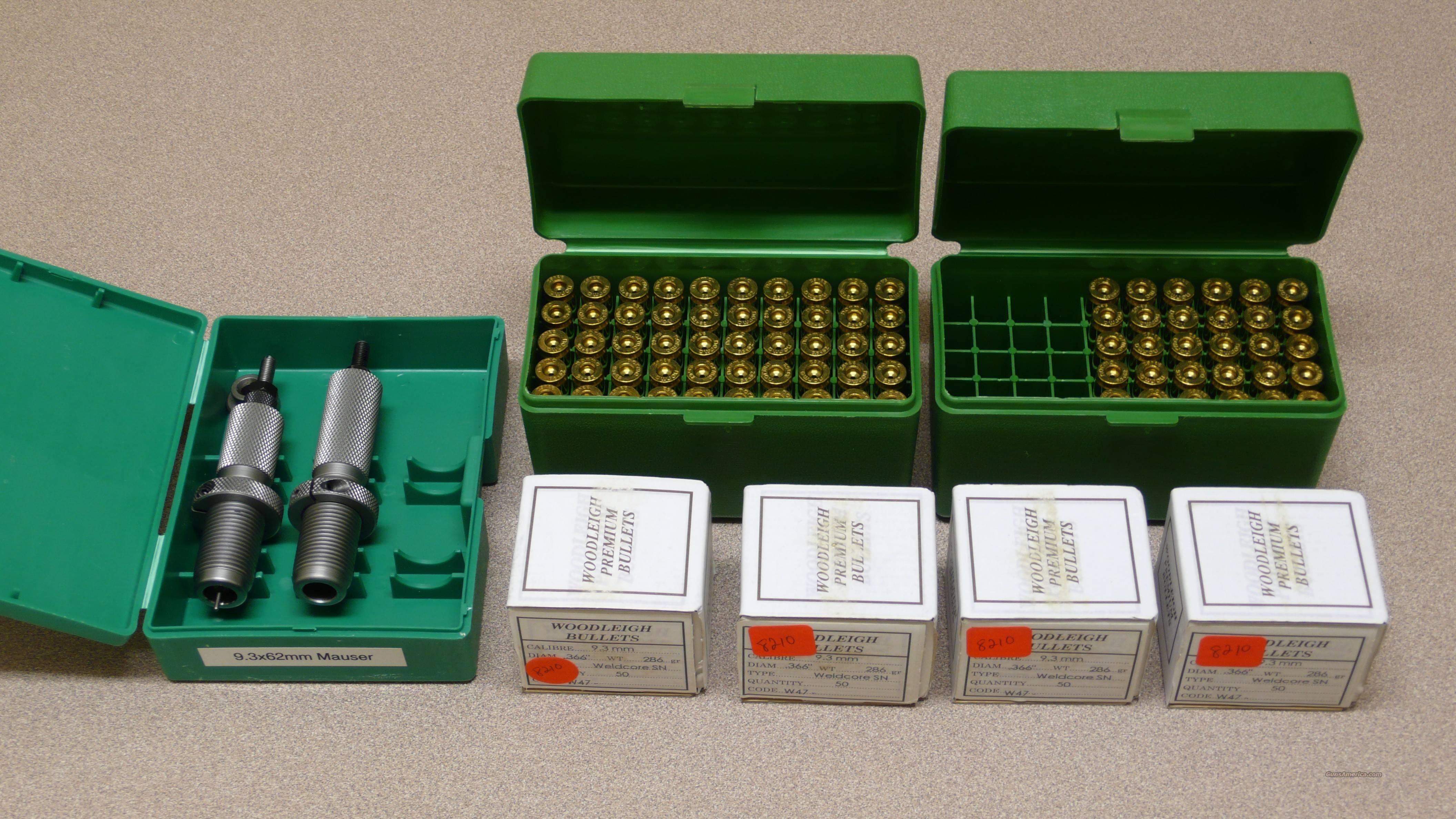 9.3x62mm Dies, Brass, Bullets