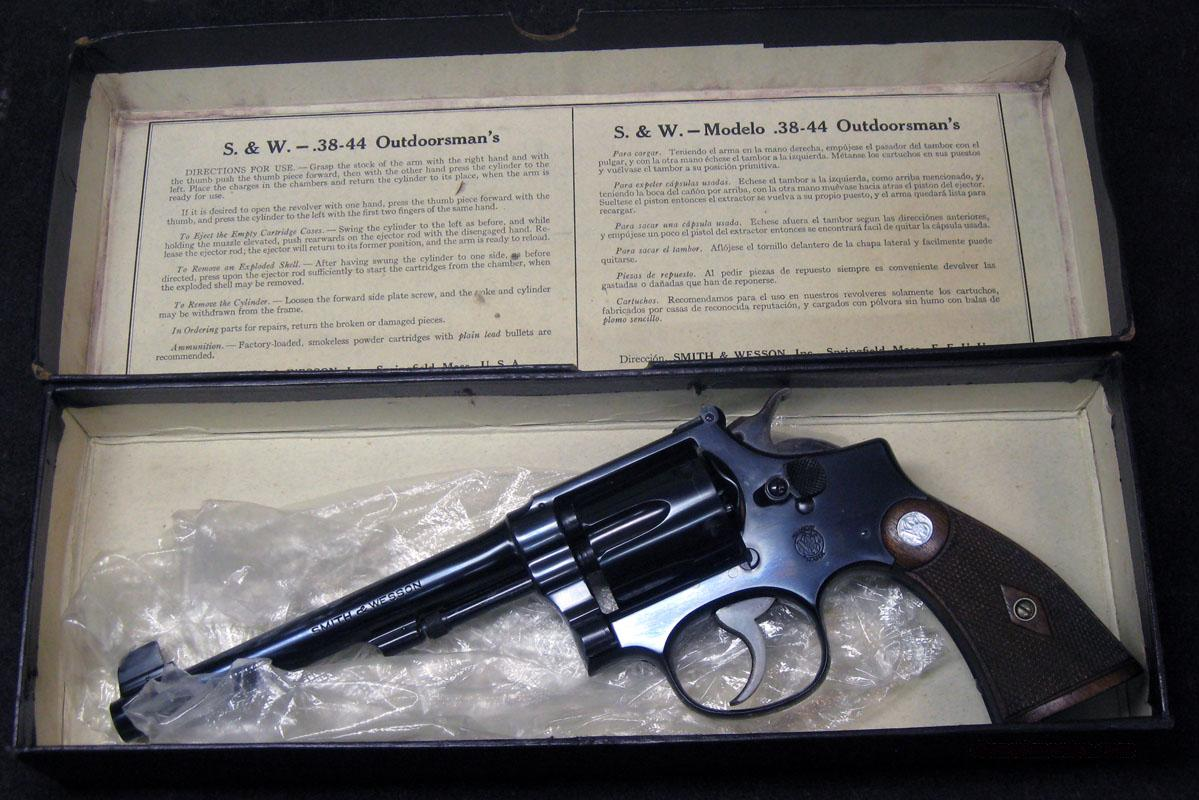"Smith & Wesson M&P Target w/Box,6"" .38Spl.  Guns > Pistols > Smith & Wesson Revolvers > Pre-1945"