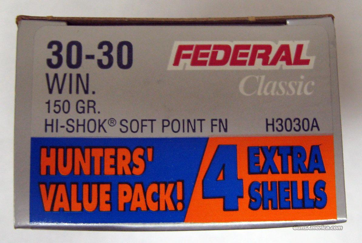 Federal Classic 30-30 150gr HI-SHOK SP FN 24rds  Non-Guns > Ammunition