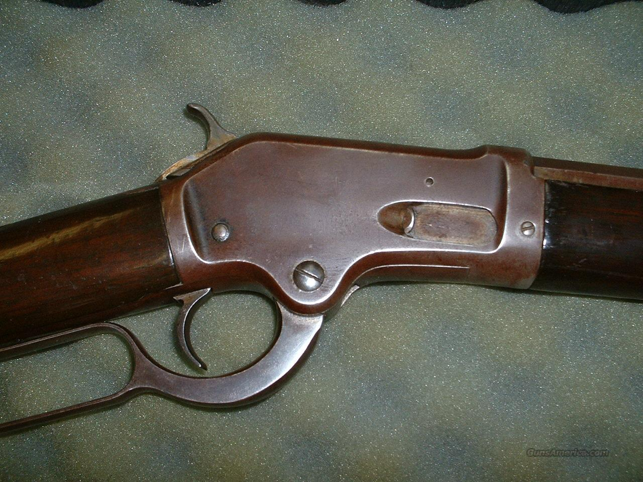 Colt Burgess Rifle With Globe Site  Guns > Rifles > Antique (Pre-1899) Rifles - Ctg. Misc.
