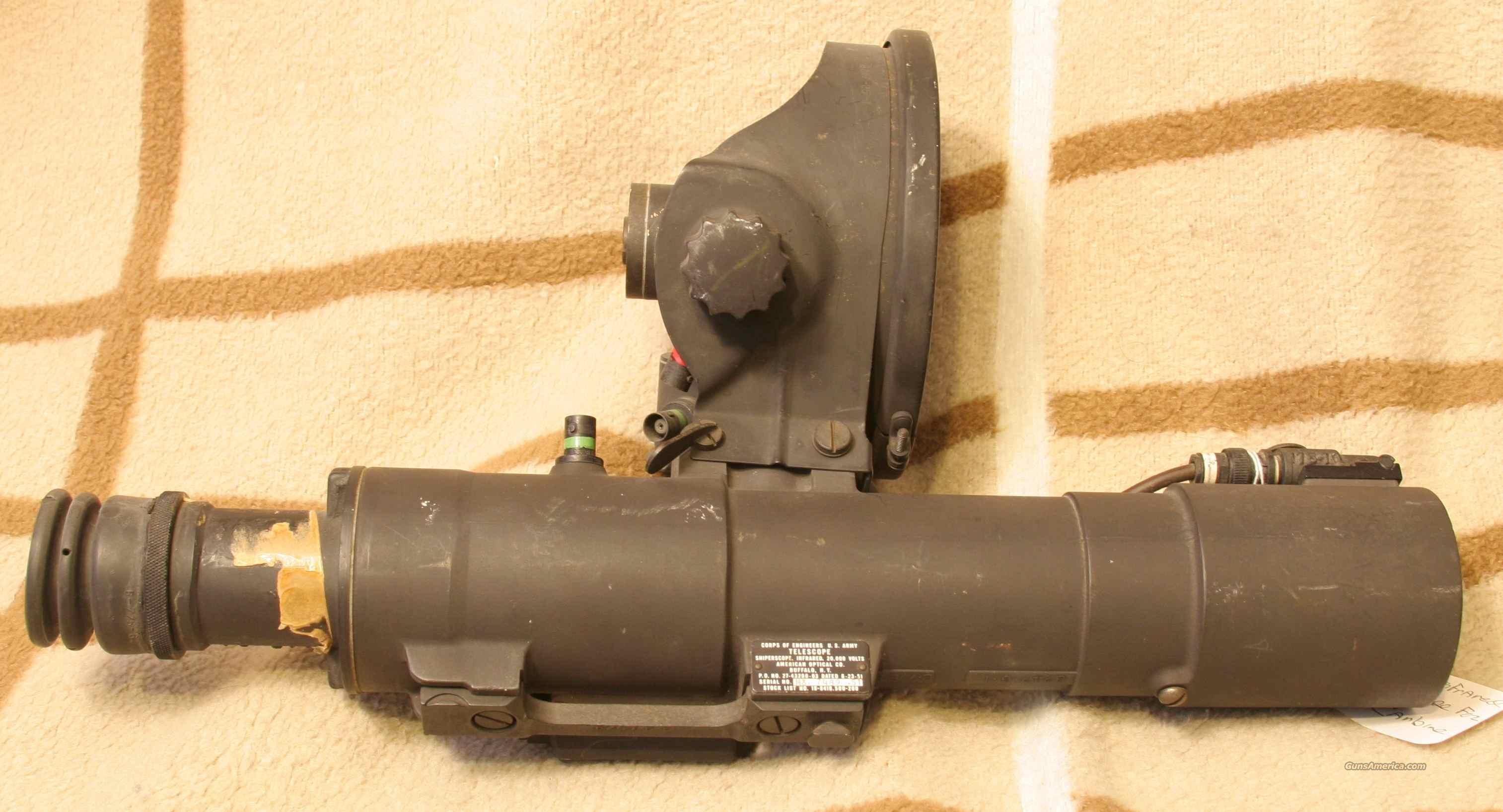 M3 Infrared Sniper Scope For M1 Carbine For Sale