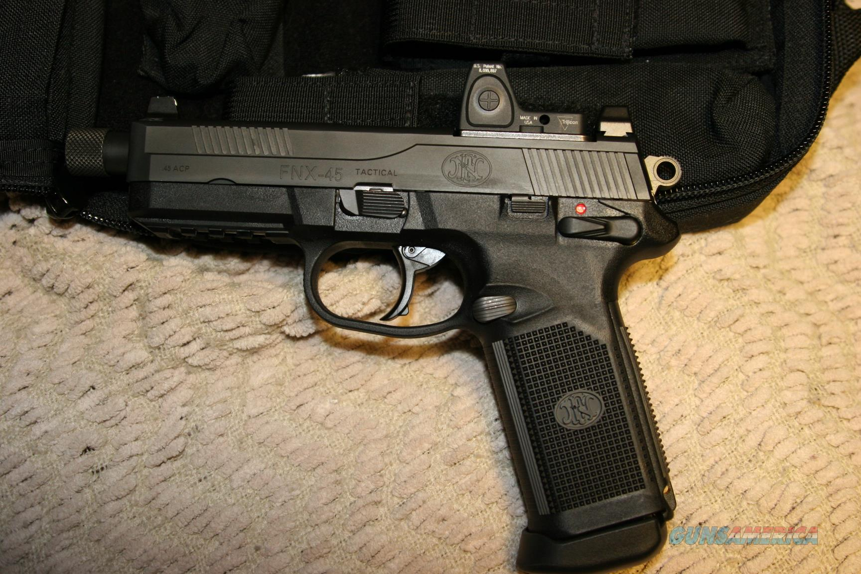 FNX 45 with Trijicon RMR  Guns > Pistols > FNH - Fabrique Nationale (FN) Pistols > FNX