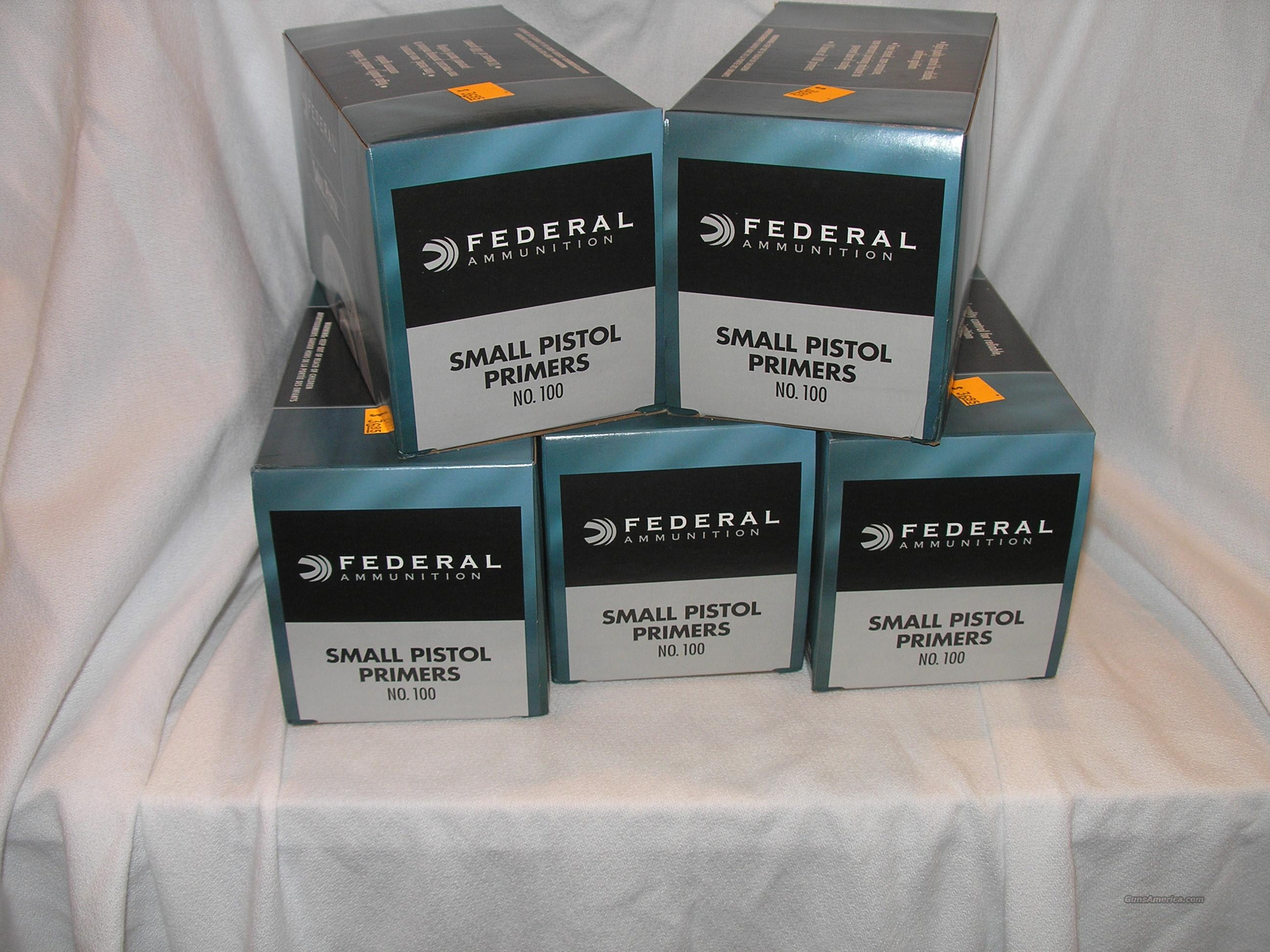 Federal Small Pistol Primers  Non-Guns > Reloading > Components > Other