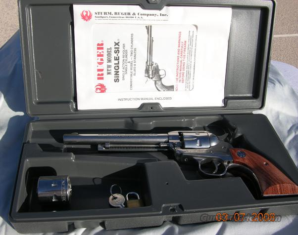 RUGER 22CAL NM SINGLE SIX CONVERTIBLE  Guns > Pistols > Ruger Single Action Revolvers > Single Six Type